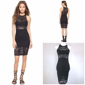 {MARA HOFFMAN} 'Supernova Jacquard' Black Dress